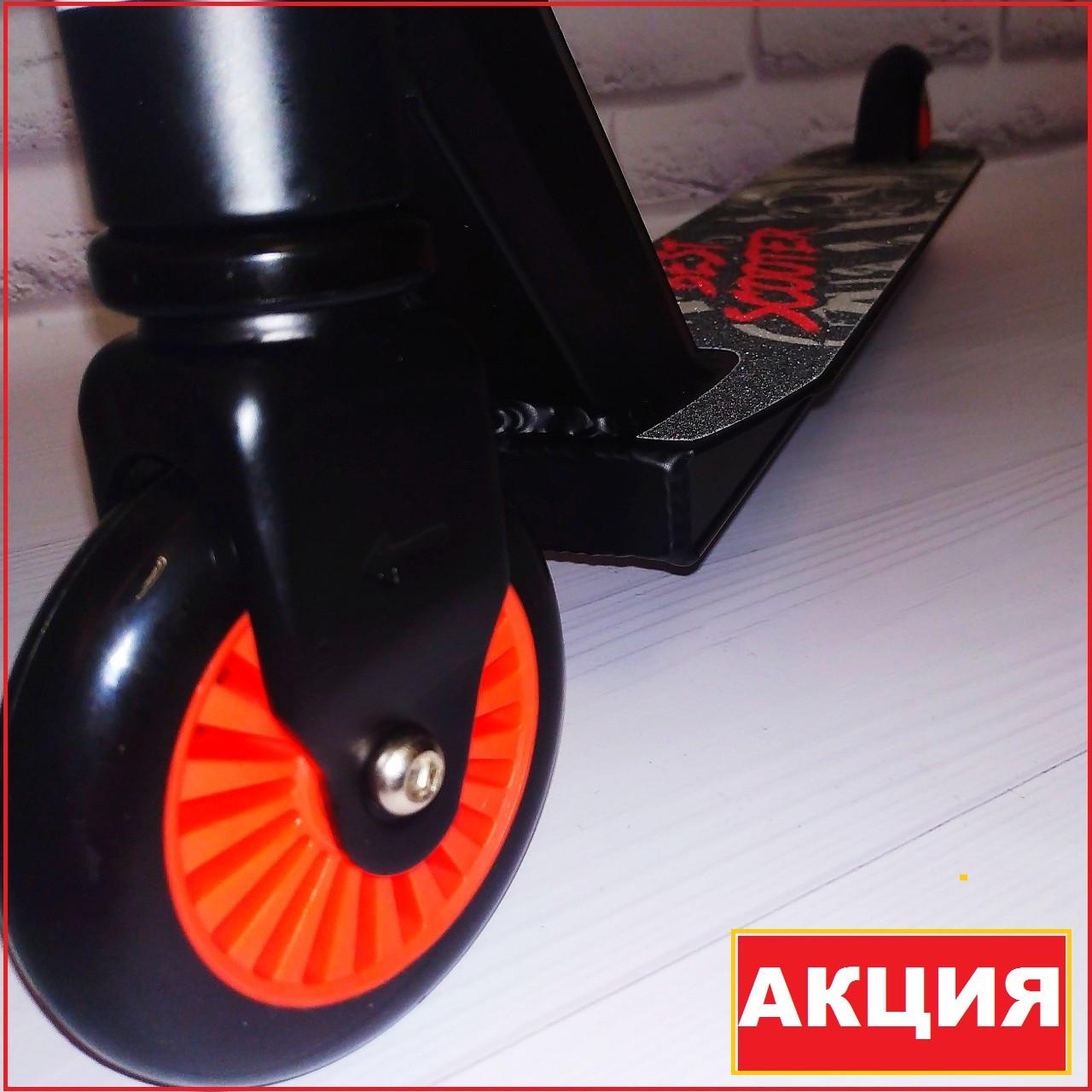 Самокат трюковый, усиленная рама и руль. Колесо 100 мм