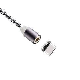 Магнитный USB кабель Gelius Pro Magenta GP-MC-U01t Type-C серый