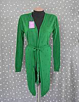 Вязаный женский кардиган №9000 - зеленый, фото 1