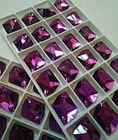 Стразы пришивные Сваровски (копия), Космик 17х21 мм Amethyst, стекло, фото 1