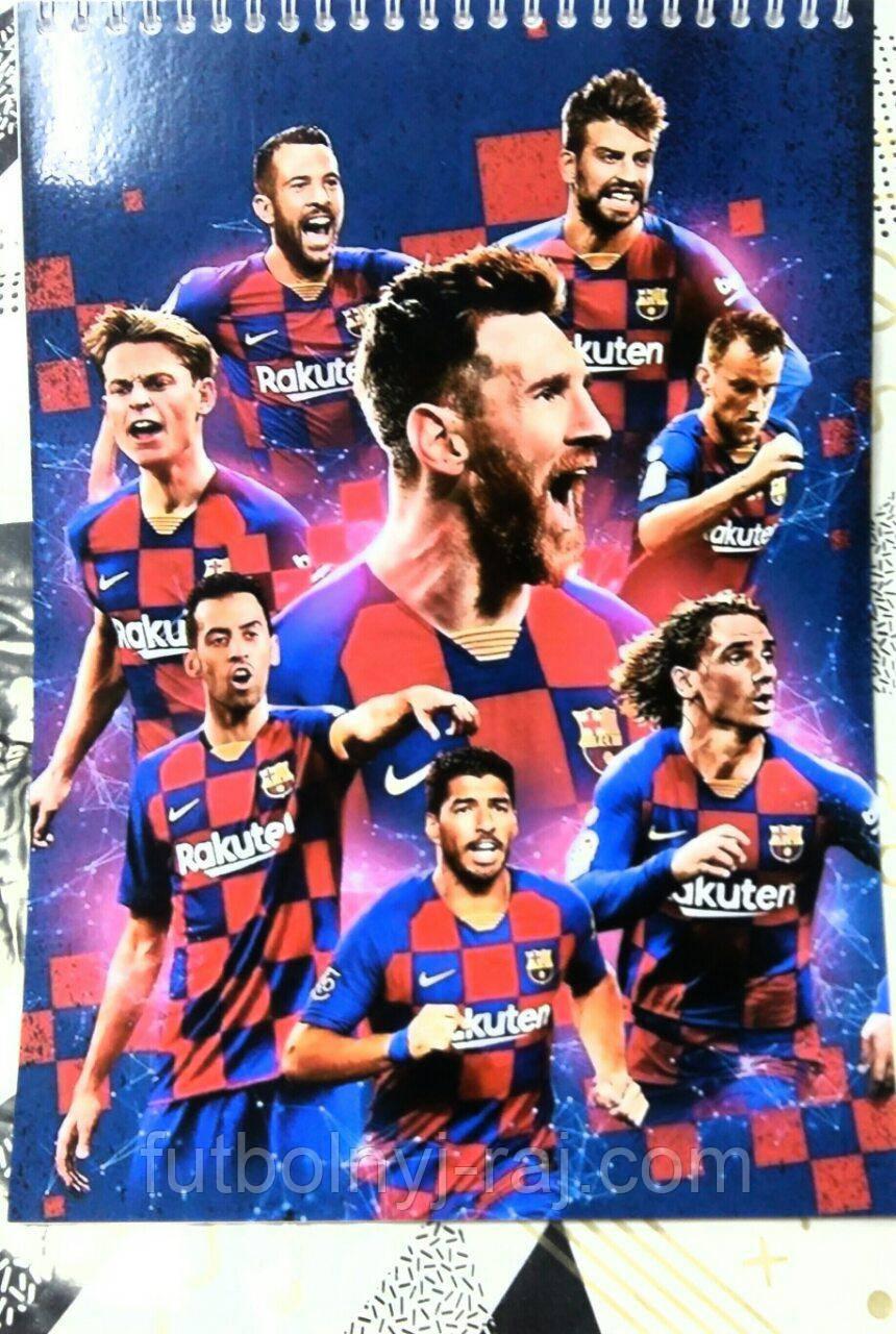 Зошит-Блокнот з символікою FC Барселона