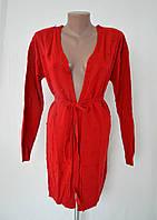 Вязаный женский кардиган №9000 - красный, фото 1