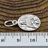 Серебряная иконка Св.Ксения размер 22х11 мм вес 1.7 г, фото 2