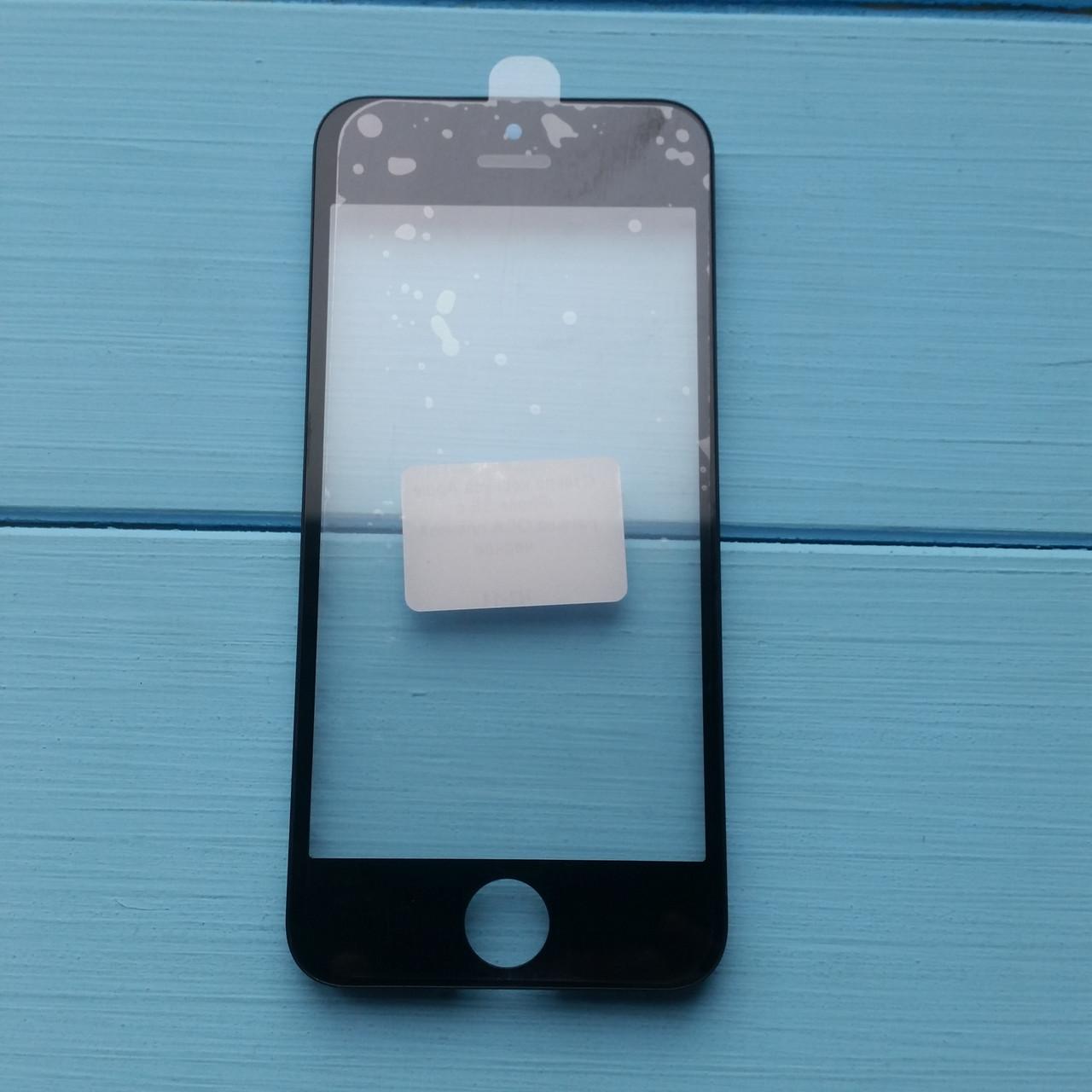 Стекло корпуса Apple iPhone 5S с рамкой, OCA пленкой Black