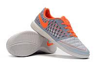 Футзалки (бампы) Nike Lunar Gato II IC Pure Platinum/Hyper Orange/Wolf Grey, фото 1