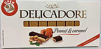 Шоколад Delicadore Peanut & Caramel (арахис и карамель) 200 г Польша