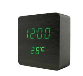 Электронные настольные часы VST 872 green