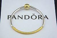 Серебряный браслет Pandora Shine Пандора Оригинал серебро 925 проба с позолотой