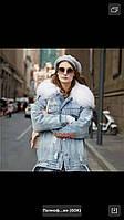 Женская куртка джинсовая парка