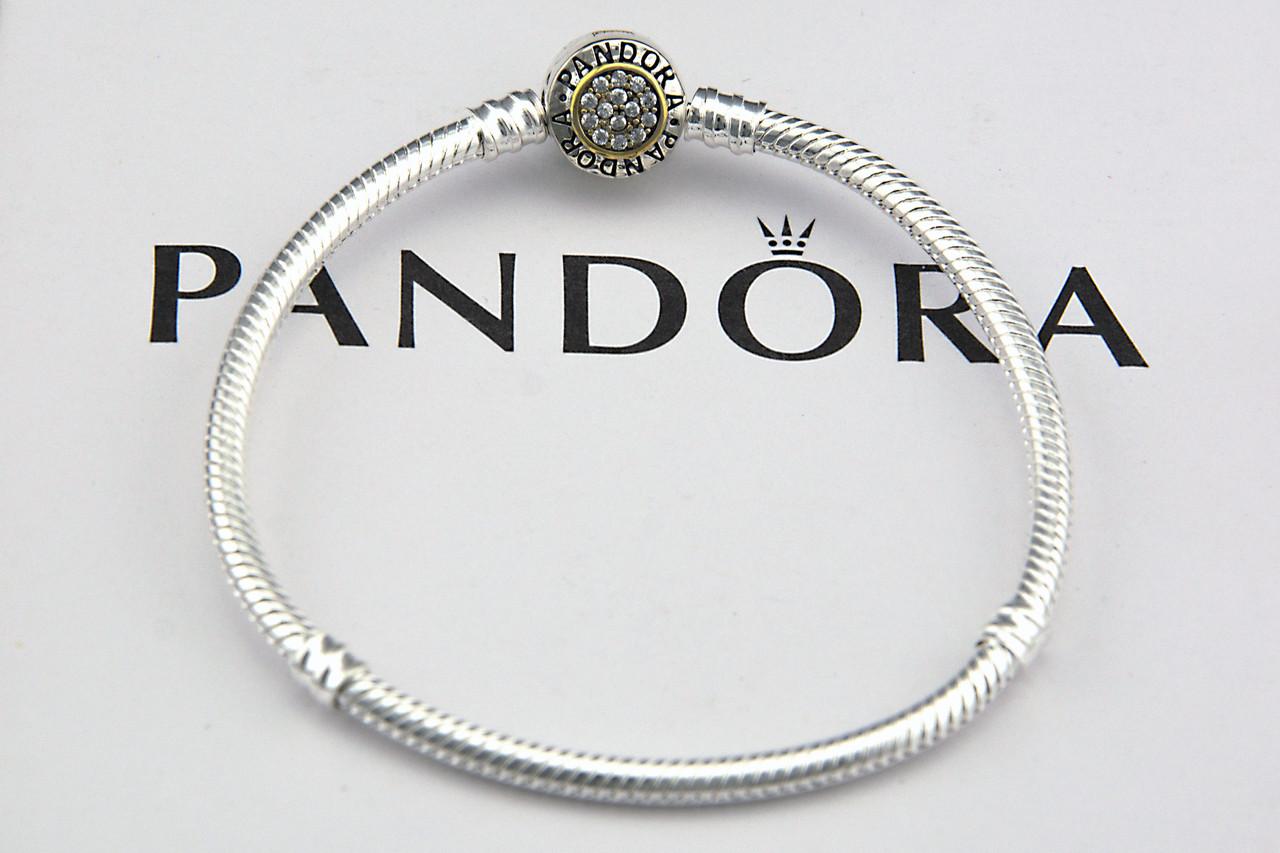 Серебряный браслет Pandora Пандора Оригинал с сертификатом серебро 925 проба с фианитами