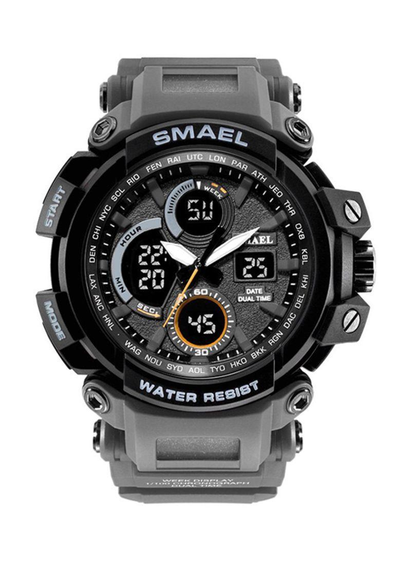 Smael 1708 серые мужские спортивные  часы
