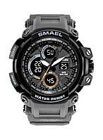 Smael 1708 серые мужские спортивные  часы, фото 1