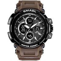 Smael 1708 кофейные мужские спортивные  часы, фото 1