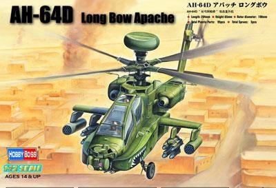 AH-64D Longbow Apache. Сборная пластиковая модель вертолета в масштабе 1/72. HOBBY BOSS 87219, фото 2