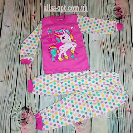 Пижама детская Единорог и сердечки интерлок