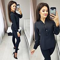Рубашка женская белая чёрная пудра 42-44 46-48 50-52