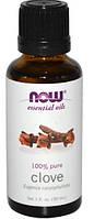 Ефірна олійка гвоздики,Эфирное масло гвоздики,Now Foods, 30мл