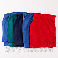 Трикотажный комплект шапка и хомут подкладка х/б р50-52 5шт упаковка