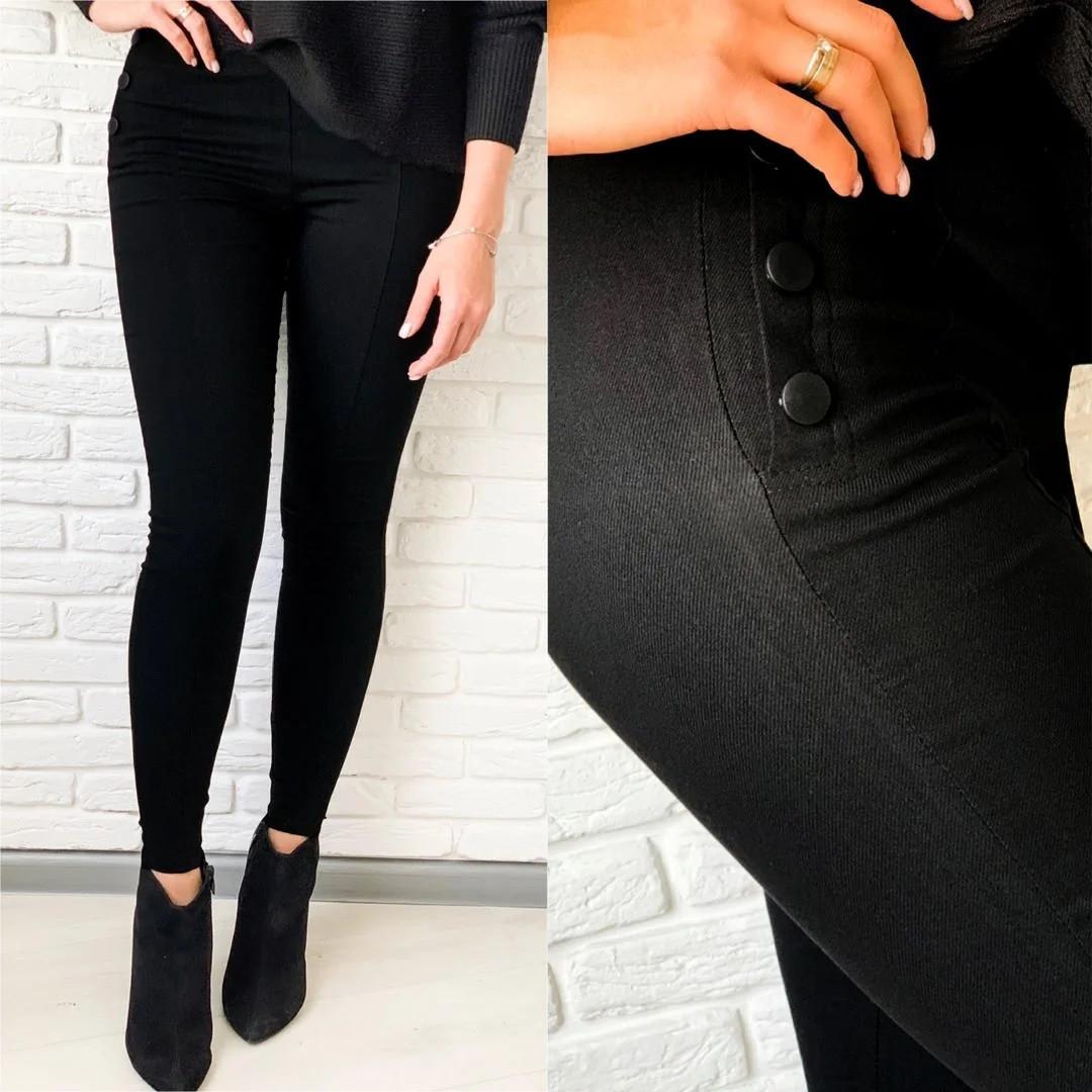 Теплые леггинсы из джинс-коттона