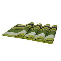 Комплект из 4-х сервировочных ковриков, зеленый, Комплект з 4-х сервірувальних килимків, зелений, Прихватки и подставки для посуды, Прихватки і
