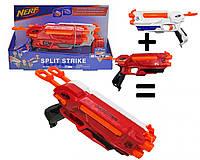 """Детский бластер """"NERF"""" 2 в 1 с поролоновыми пулями ."""