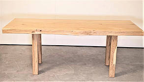 Деревянный стол 2000х900 мм из ясеня для кафе, дачи от производителя. Wood Table 12