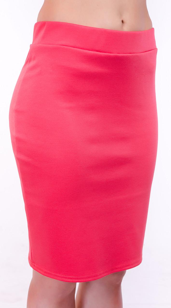 03a609acb48 Классическая женская юбка карандаш из французского трикотажа -  Интернет-магазин