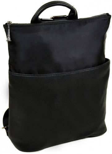 Классический рюкзак-сумка из  нейлона 8702 black, черный