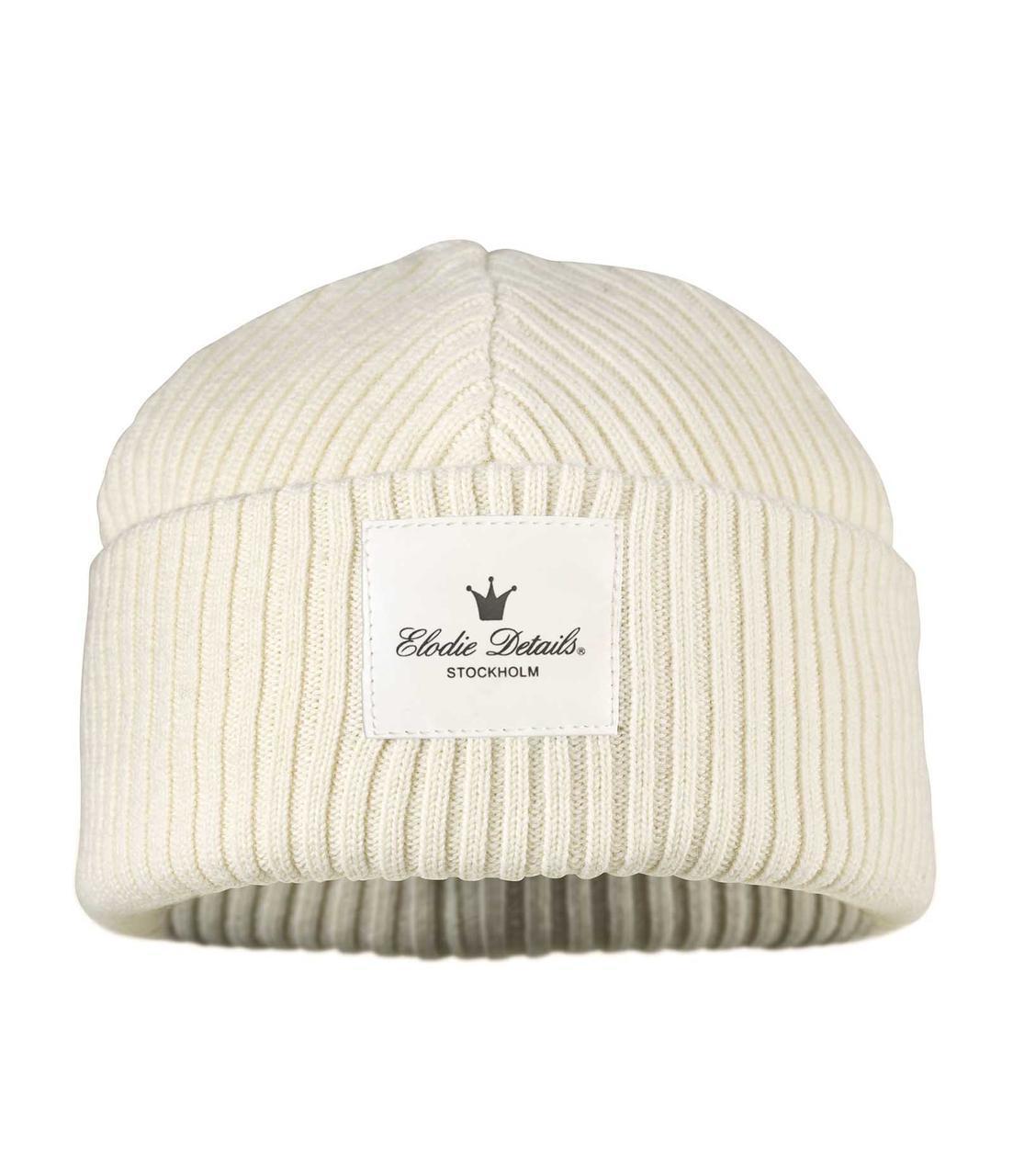 Elodie Details - Детская шерстяная шапка Vanilla White, 24-36 m