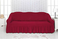 Комплект чехлов на диван с воланами Venera 04-221 Бордо