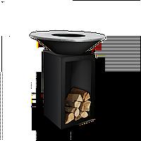 Гриль-мангал, барбекю  HOLLA GRILL черный, открытая тумба