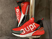 Nike air max 270 supreme red мужские кроссовки красные, размеры 41-46