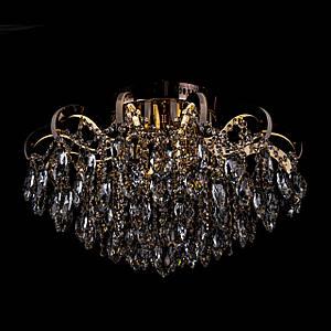 Кришталева люстра зі світними ріжками на 4 лампочки Прометей P5-E1625/4+12/FG