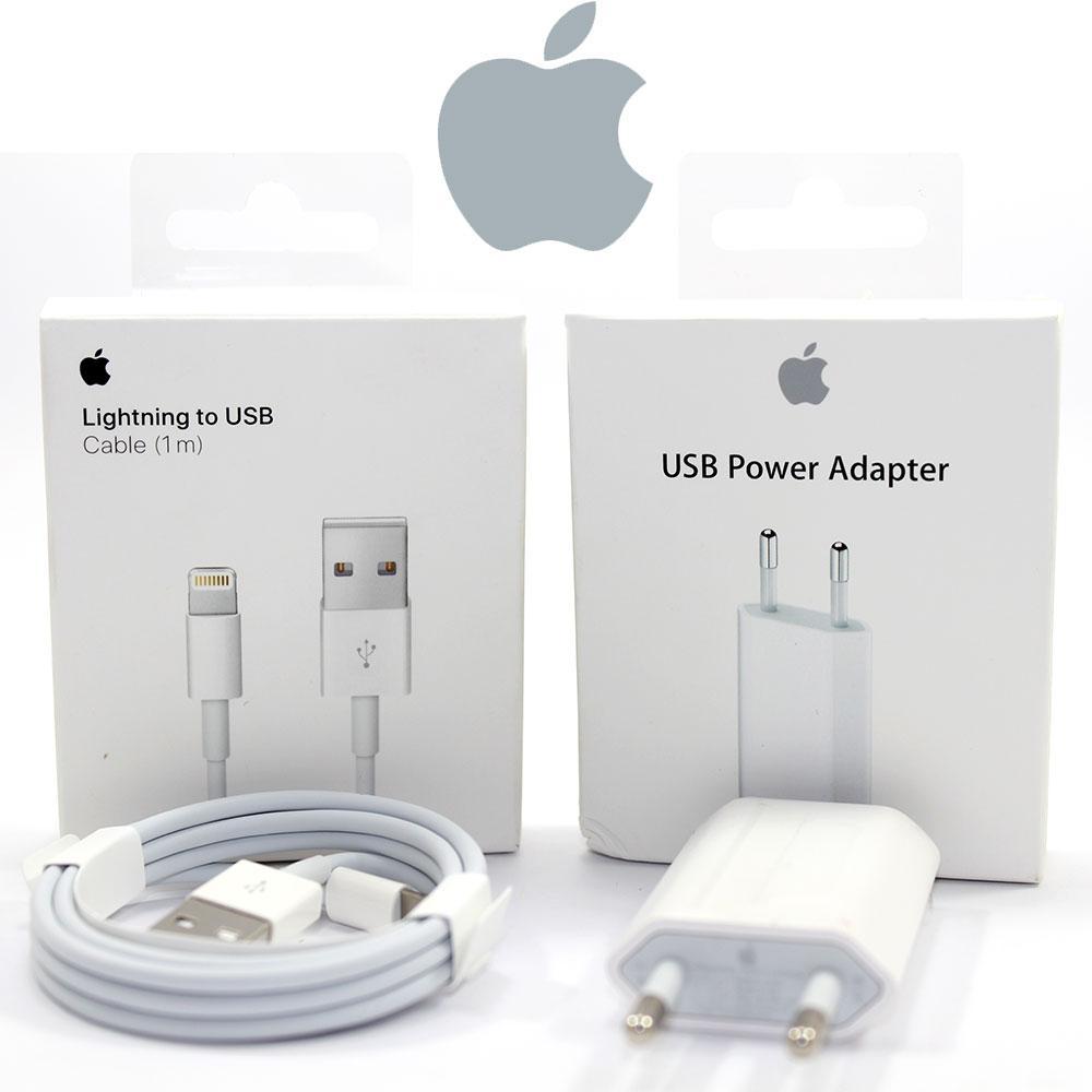 Зарядка для Айфона, оригинальный комплект кабель зарядка для iphone