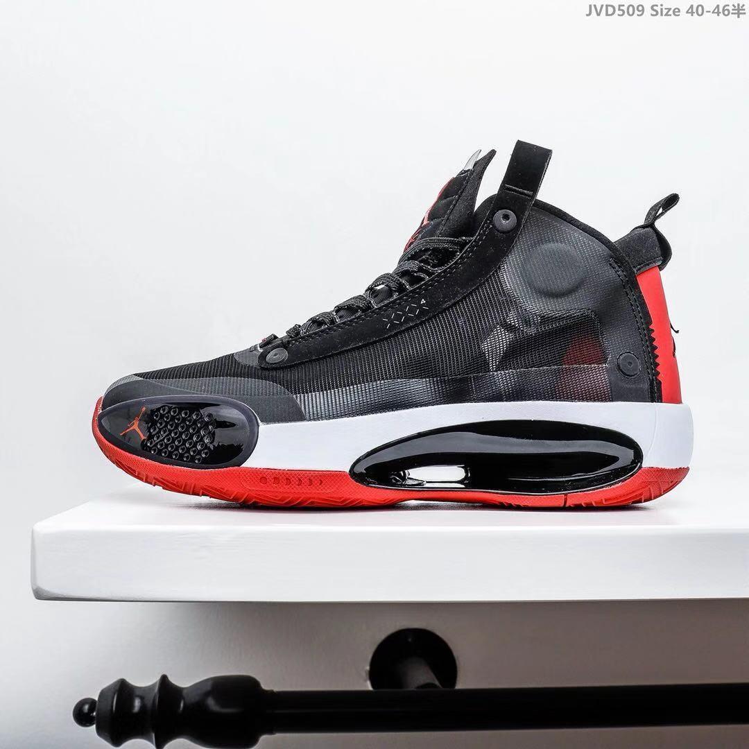 Мужские Кроссовки Air Jordan XXXIV AJ34 Black/red