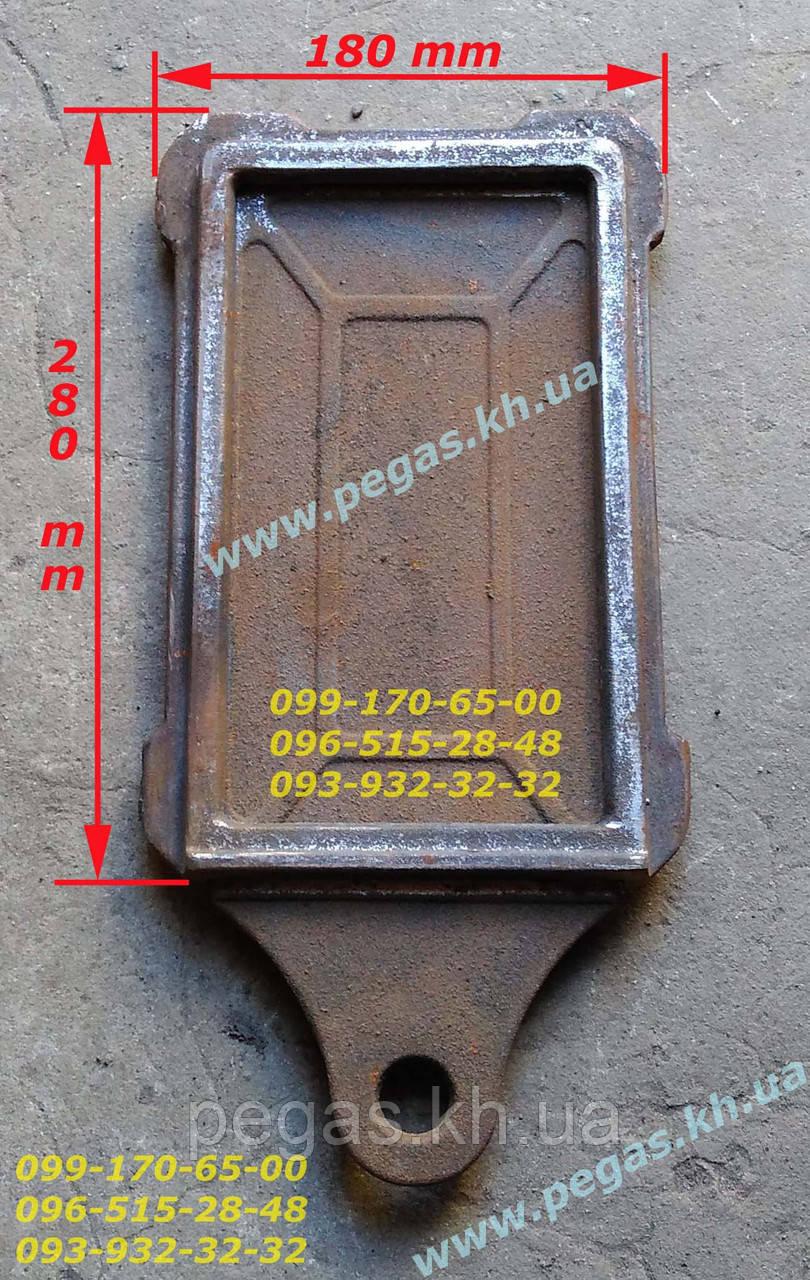Засувка заслінка пічна чавунна (125х230 мм) печі, барбекю, мангал