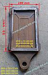 Засувка шибер чавунна заслінка грубна, чавунне литво, печі, мангал, барбекю, фото 3
