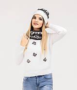 Шапка + баф Holly | Комплект зимовий | Шапка з помпоном, фото 3
