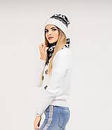 Шапка + баф Holly | Комплект зимовий | Шапка з помпоном, фото 4