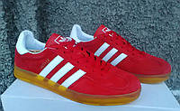 Кроссовки мужские в стиле Adidas Gazelle Indoor red/white