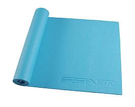 Коврик (мат) для йоги та фітнесу SportVida PVC 6 мм SV-HK0053 Sky Blue