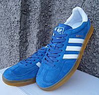 Кроссовки мужские в стиле Adidas Gazelle Indoor blue/white