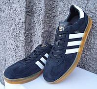 Кроссовки мужские в стиле Adidas Gazelle Indoor black/white