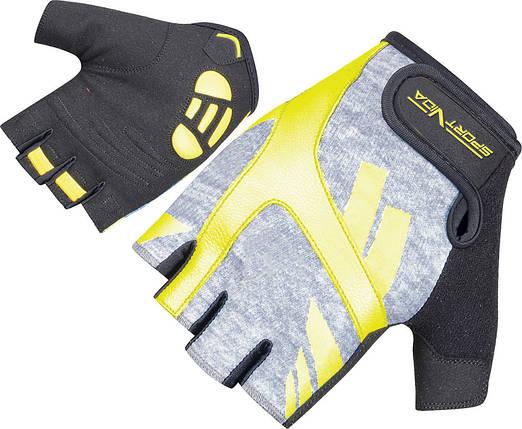 Рукавички для фітнесу SportVida SV-AG00032 (S) Black/Yellow, фото 2