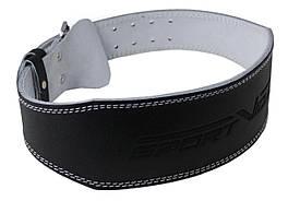 Пояс для важкої атлетики із екошкіри SportVida SV-AG0075 (S) Black