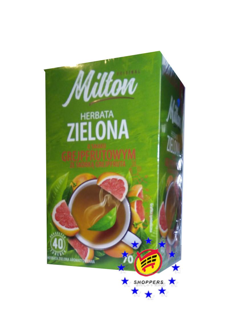 Зеленый чай с грейфруктом ( 40 пакетиков ) Milton O smaku Grejpfrutowym.