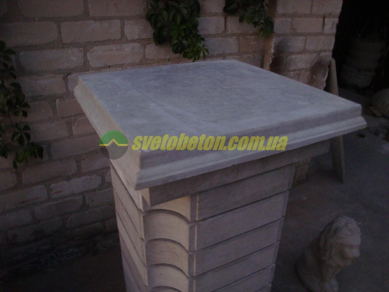 Декоративная бетонная квадратная плита подставка 480х480 под фигуры, вазы и вазоны уличные горшки и кашпо.