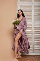 Женское выпускное/вечернее/для подружек невест платье с длинным рукавом из шёлка