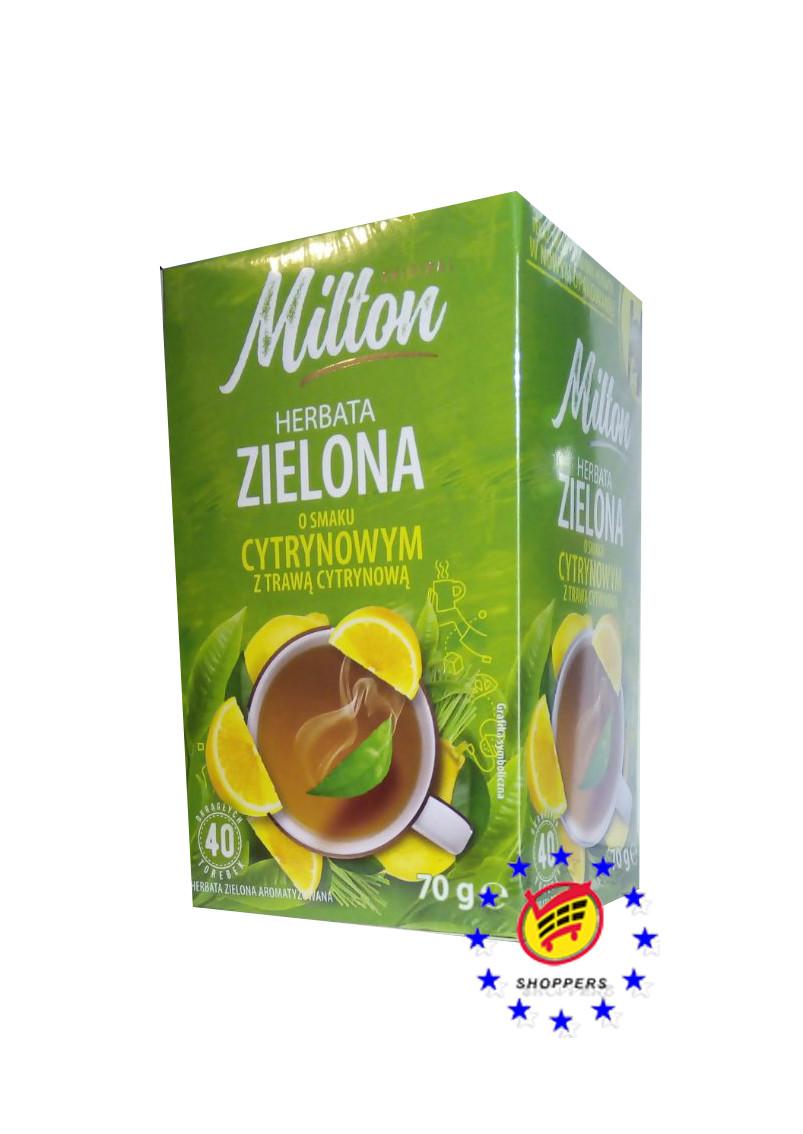 Зеленый чай с лимоном ( 40 пакетиков ) Milton  O smaku cytrynowym.