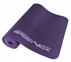Коврик (мат) для йоги та фітнесу текстурований SportVida NBR 1 см SV-HK0071 Violet